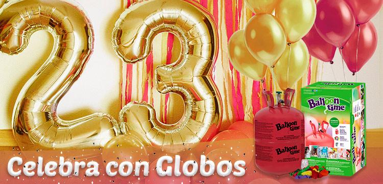globos de helio numeros y letras