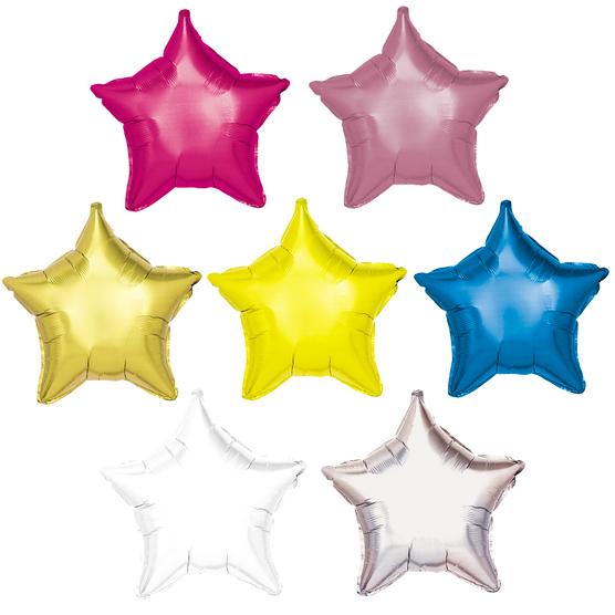 Globos de Helio Estrella de Colores Personalizados Tinta Negra