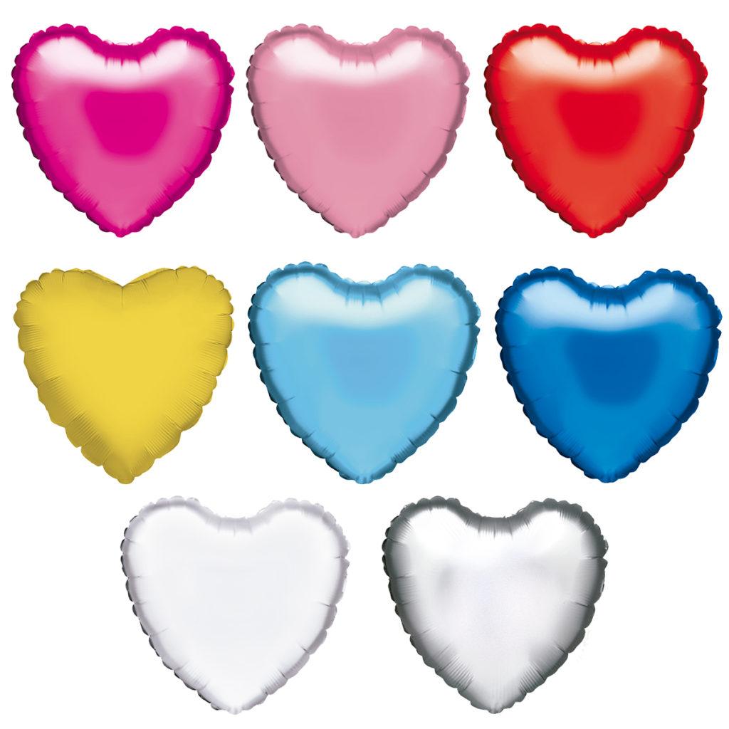 Globos de Helio Corazon de Colores Personalizados Tinta Negra