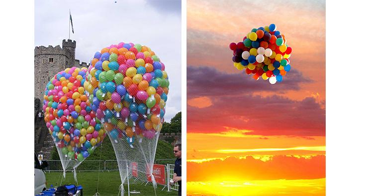 suelta de globos celebraciones con mensajes