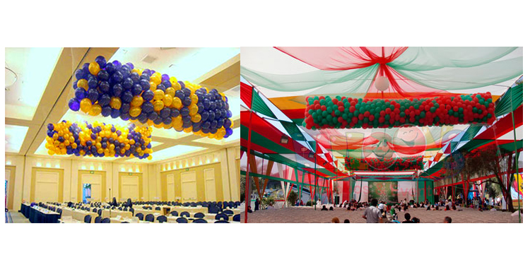 red caida de globos eventos