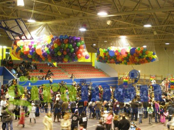 Caída de globos con aire eventos