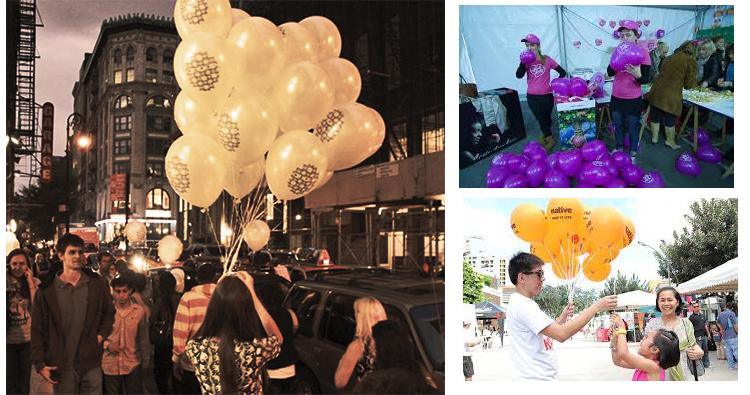 Publicidad con globos de helio personalizados