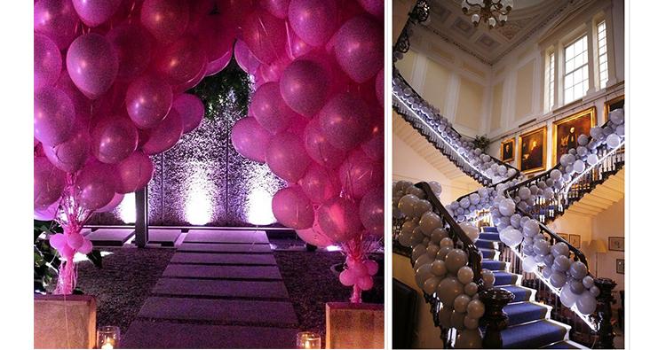 decoración con eventos con globos de helio