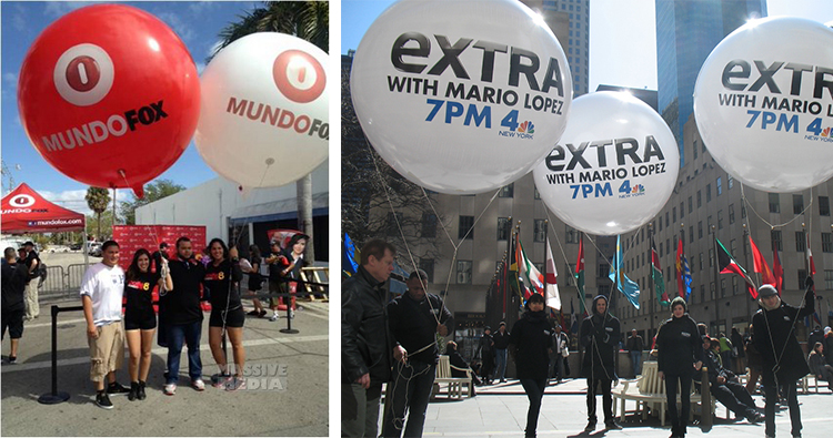 eventos con globos gigantes personalizados
