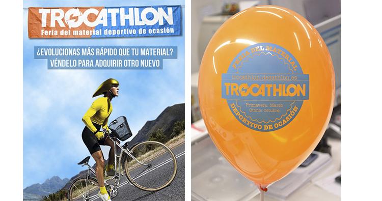 Reparto de globos para publcitar feria deportiva