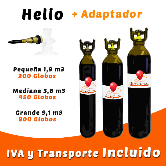 Botellas de Helio Retornables