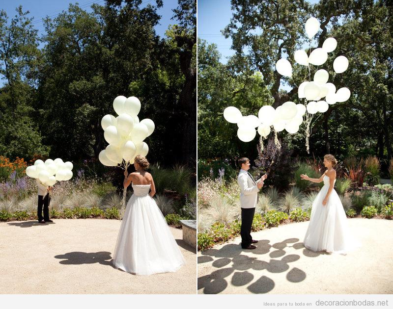 bodas con globos de helio