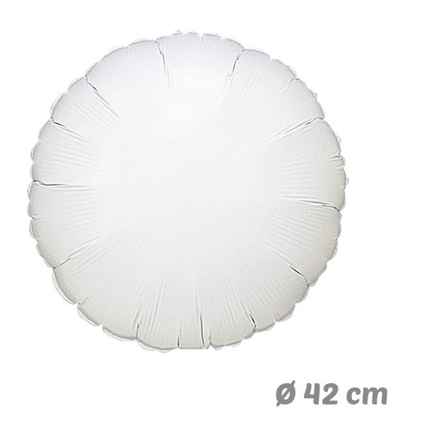 Globos Redondo Blanco de Helio 42 cm