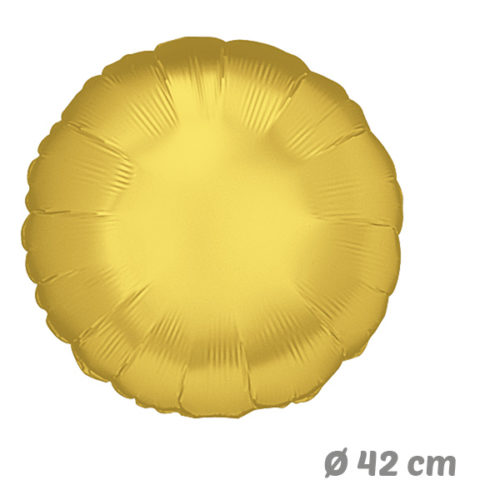 Globos Redondo Dorado de Helio 42 cm