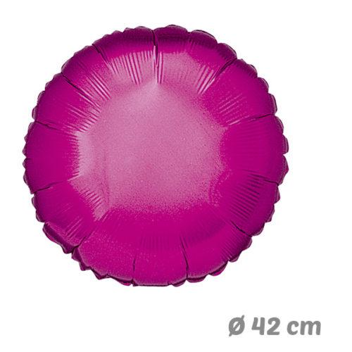 Globos Redondo Fucsia de Helio 42 cm