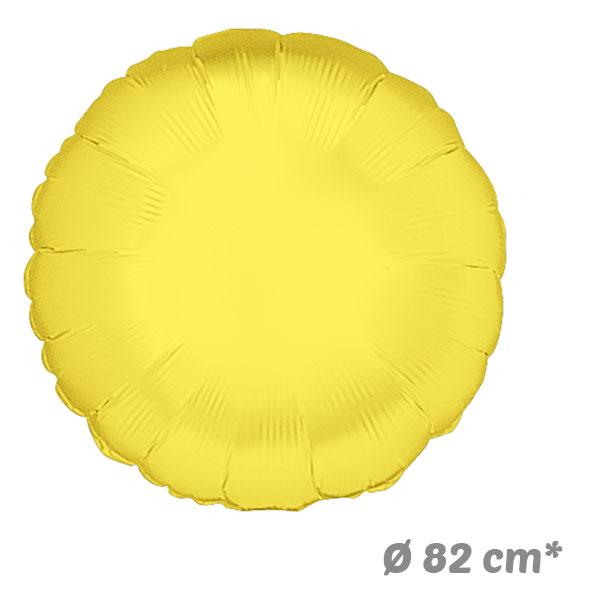 Globos Redondo Amarillo de Helio 82 cm