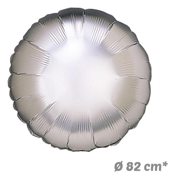 Globos Redondo Plata de Helio 82 cm