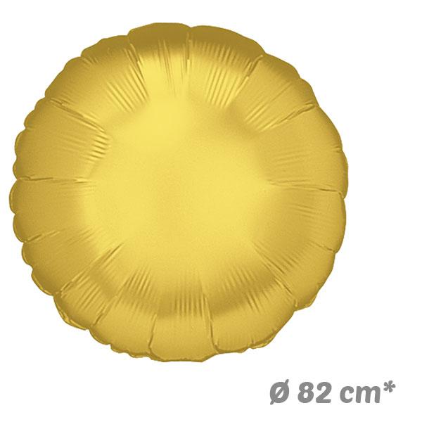 Globos Redondo Dorado de Helio 82 cm
