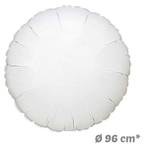 Globos Redondo Blanco de Helio 96 cm