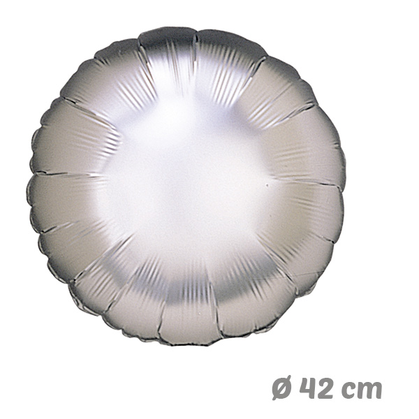 Globos Redondo Plata de Helio 42 cm
