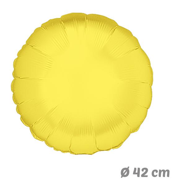 Globos Redondo Amarillo de Helio 42 cm