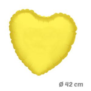 Globos Corazon Amarillo de Helio 42 cm