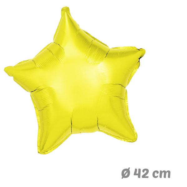 Globos Estrella Amarillo de Helio 42 cm