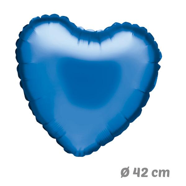 Globos Corazon Azul de Helio 42 cm