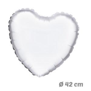 Globos Corazon Blanco de Helio 42 cm