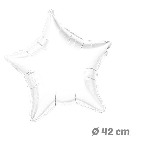 Globos Estrella Blanca de Helio 42 cm