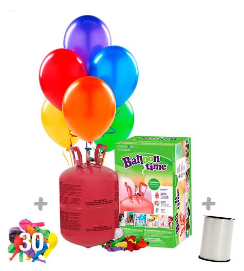 Helio para globos Desechable Botella pequeña + 30 globos de Regalo
