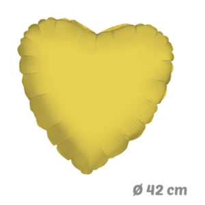 Globos Corazon Dorado de Helio 42 cm