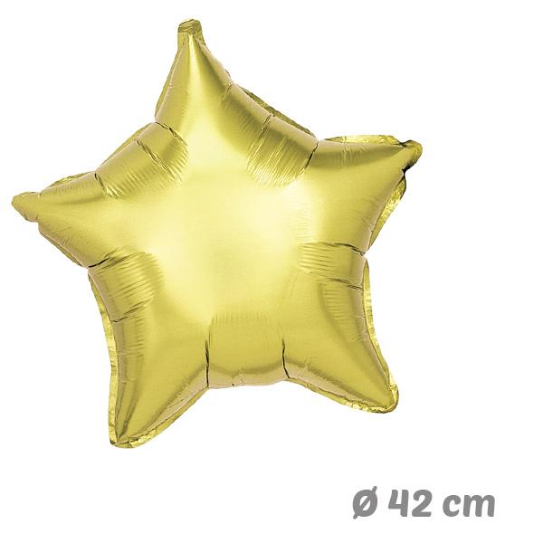 Globos Estrella Dorado de Helio 42 cm