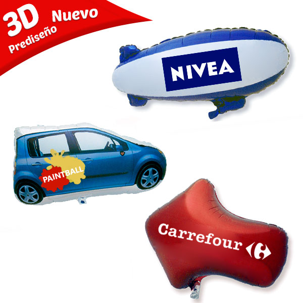 Globos 3D Impresos Forma Prediseñada