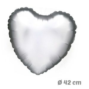 Globos Corazon Plata de Helio 42 cm