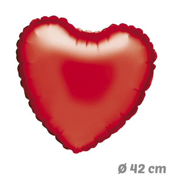 Globos Corazon Rojo de Helio 42 cm