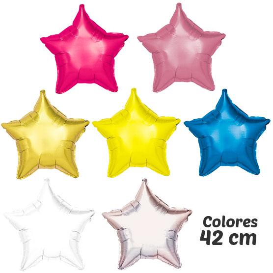 colores globos de helio estrella