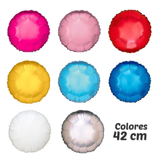 Colores globos de helio REDONDOS 42 CM