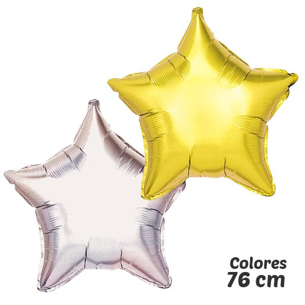 colores globos de helio estrella 76 cm