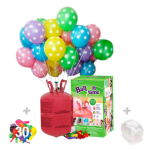 Helio para globos: Bombona Pequeña + 30 globos Lunares