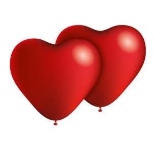 globos forma corazon