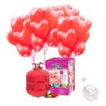 Bombona de Helio Grande con 45 globos Corazon