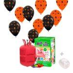 Helio para globos Halloween: Bombona Pequeña + 30 globos
