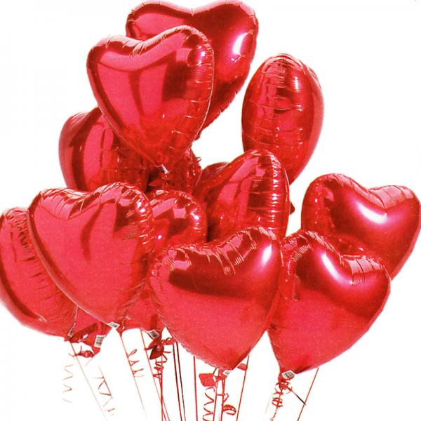 Globos de helio corazon poliamida rojos