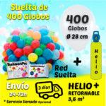 Suelta de 400 Globos 28 cm + Helio + Cinta