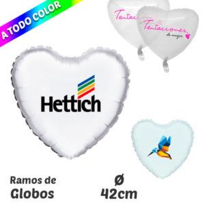 Globos de Poliamida Corazón Impresos A Todo Color 42 cm