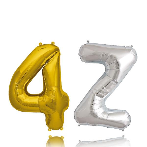 Globos Numeros y Letras