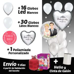Globos de Helio Led Bodas Fiesta