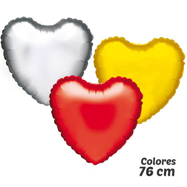 colores globos de helio corazón 76 cm