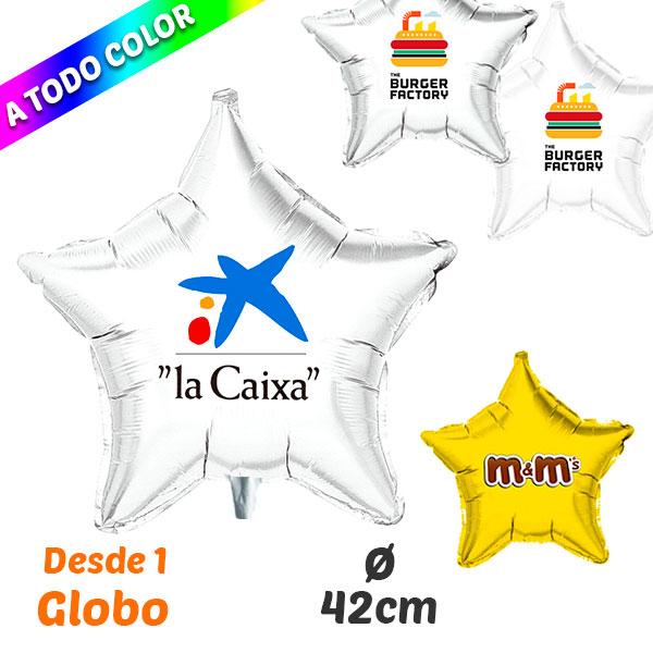 Desde 1 Globo Estrella Impresos A Todo Color 42 cm