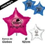 Globos Estrellas Impresos 1 Tinta 42 cm