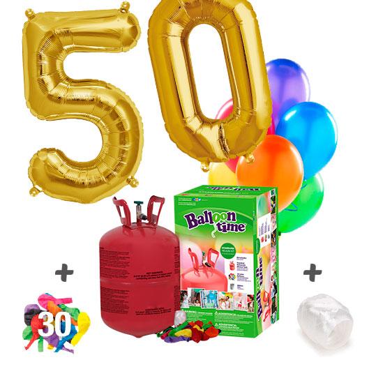 Pack Globos Cumpleaños: Helio pequeño + 2 Numeros