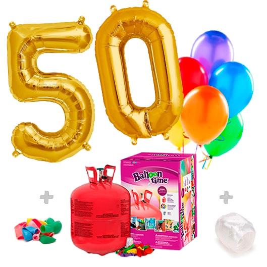 Pack Globos Cumpleaños: Helio grande + 2 Números a elegir