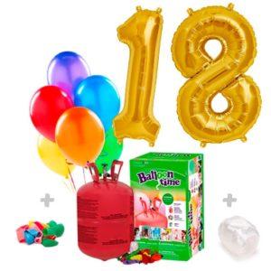 Pack Globos Cumpleaños: Helio pequeño + 2 Números a elegir